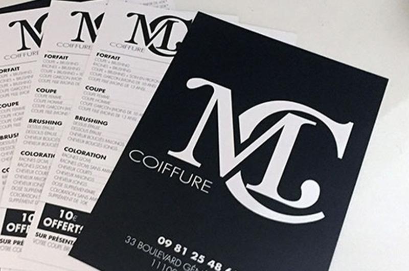 CARTE DE VISITE MC COIFFURE