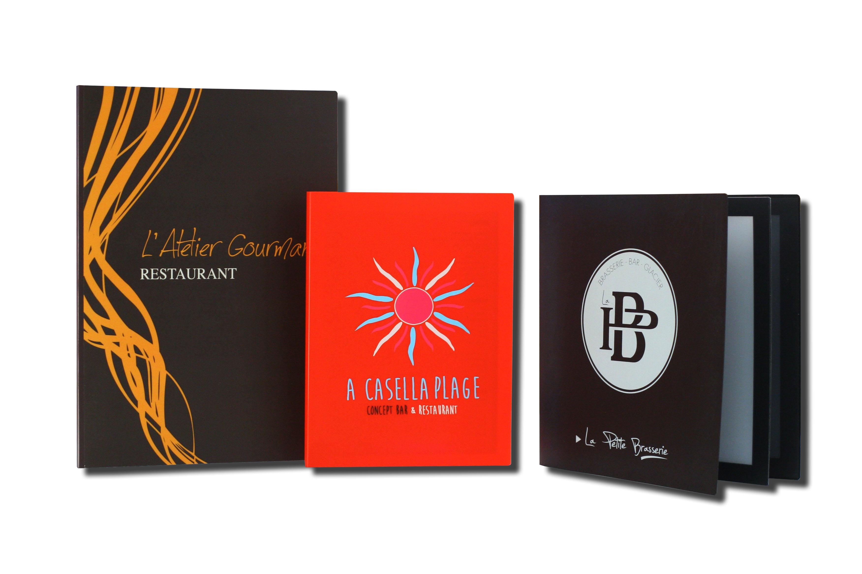 Impression De Cartes Et Menus De Restaurant En PVC Porte Menu - Porte menu restaurant